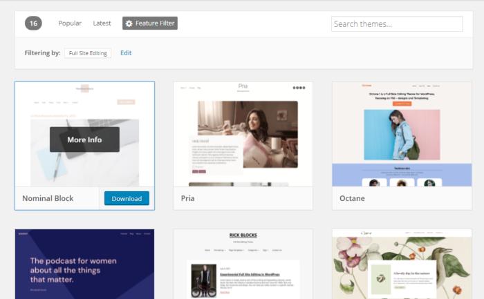 Full Site Editing Theme